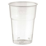 Brillant klare Trinkgläser 200ml mit Füllstrich, Ø 73 mm, 50 Stk.