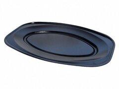 Servierteller, Party-Platte oval schwarz 35 x 24,7 cm, Größe M, 10 Stk.