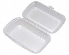 Menübox Lunch-Box weiß 240x133x75 mm, EPS, geschäumt, einteilig,  25 Stk.