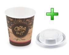Kaffeebecher S Coffee To Go Caffe Crema mit Trinkdeckel 150ml 200ml 50 Stk.