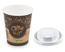 Kaffeebecher M Coffee To Go Cappuccino mit Trinkdeckel 200ml 280ml,  100 Stk.