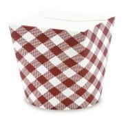 Food Box Take Away Box aus Vollpappe Design KARO 16oz 500ml, 50 Stk.