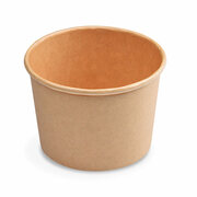 Papierbecher Feinkostbecher Eisbecher rund braun 500 ml Ø 11,5 cm, 50 Stk.