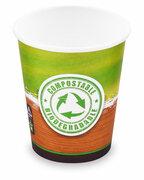 BIO Kartonbecher Kaffeebecher CoffeeToGo Kompostierbar PLA 200ml 280ml, 10 Stk.