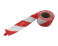 Absperrband rot weiß gestreift, 75mm breit 500 Meter LDPE