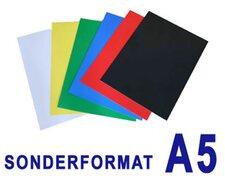 Rückwände / Deckblätter Chromo glossy, 250gr/m2, für A5, schwarz,  25 Stk.