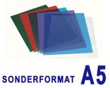 Deckblätter 0.20mm, für A5, transparent rot,  25 Stk.
