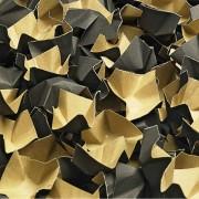 DECOFILL dekorative Papier-Verpackungschips Polsterchips, schwarz, 120 Liter