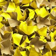 DECOFILL dekorative Papier-Verpackungschips Polsterchips, gelb, 120 Liter