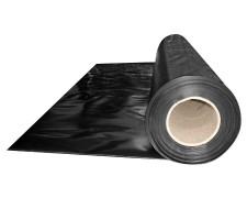 Abdeckfolie Baufolie, schwarz opak  2000mm, x 50m, 150my LDPE
