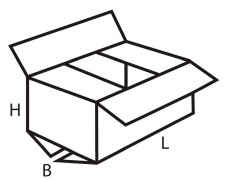 Faltkarton  600x400x150mm, 1wellig