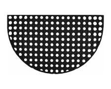 Hochwertige Gummimatte Türmatte Fußabstreifer 75x45cm halbrund, schwarz