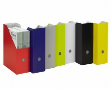progressFILE ZEITSCHRIFTENSAMMLER Zeitschriftenbox 105mm breit, dunkelblau