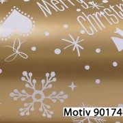 Weihnachtsgeschenkpapier Weihnachtspapier  50 cm x 200 m | Motiv 90174