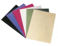 Rückwände / Deckblätter genarbter Lederkarton, 250gr/. A4, schwarz, 100 Stk.