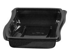 Gourmet Box Schale, 1100 ml, 226x179x50mm, PET, schwarz, 114 Stk.