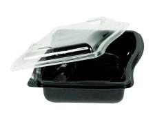 Gourmet Box Schale mit Deckel, 675 ml, 150x179x61mm, PET,  60 Stk.
