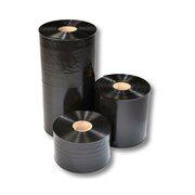 Schlauchfolie   80mm breit, 100my, opak - blickdicht, schwarz, LDPE, 250 lfm.