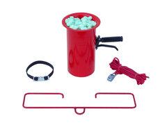 Abfüllvorrichtung mit Trichter für Flo-Pak und andere Verpackungschips