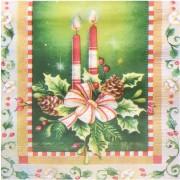 Weihnachtsservietten 3-lagig 33 x 33 cm Weihnachtsgesteck 1 | 20 Stk.