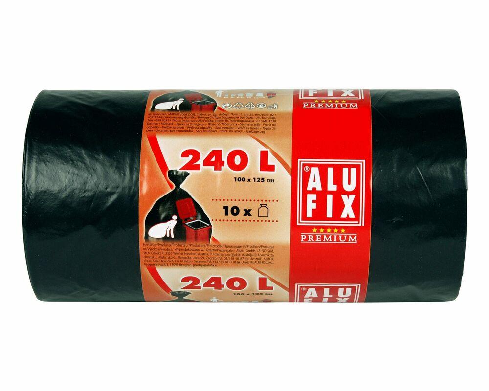 alufix m lls cke extra stark 240 l hdpe 100x125 cm 35my schwarz 10 stk. Black Bedroom Furniture Sets. Home Design Ideas