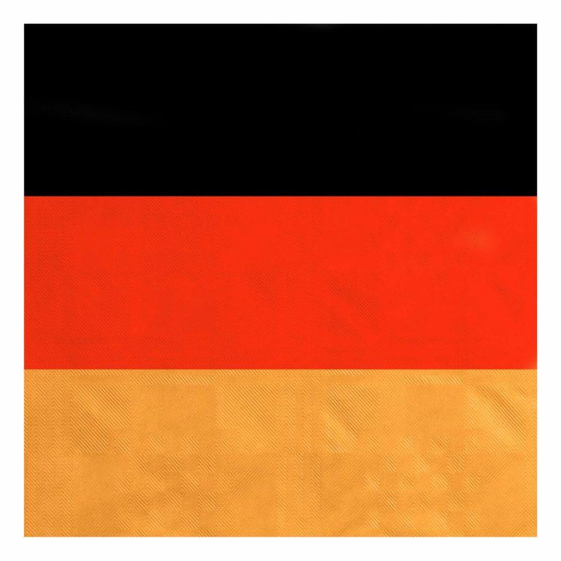 Tischtuch Tischdecke Papier schwarz-rot-gold Deutschland Germany 100cm x 10m