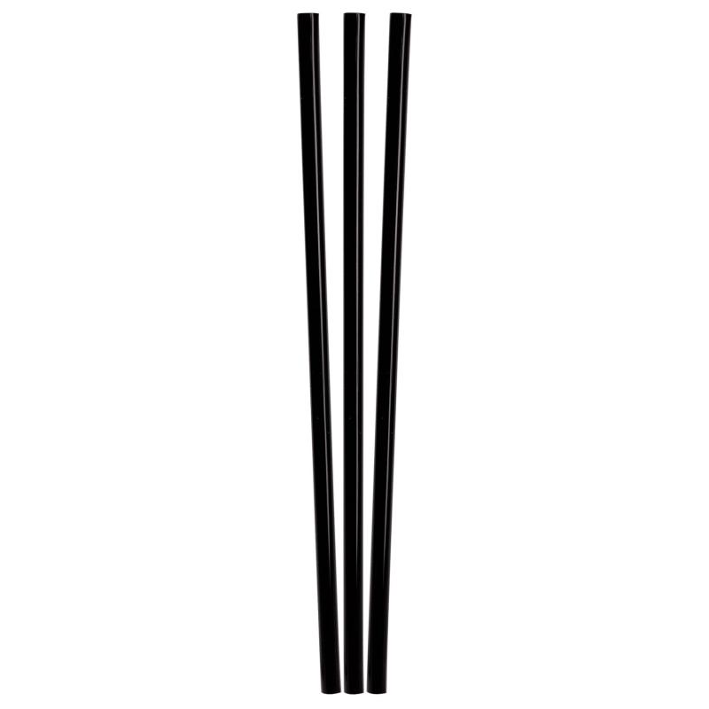 BIO Trinkhalme aus PLA, schwarz, Ø6mm, 21cm, 150 Stk.