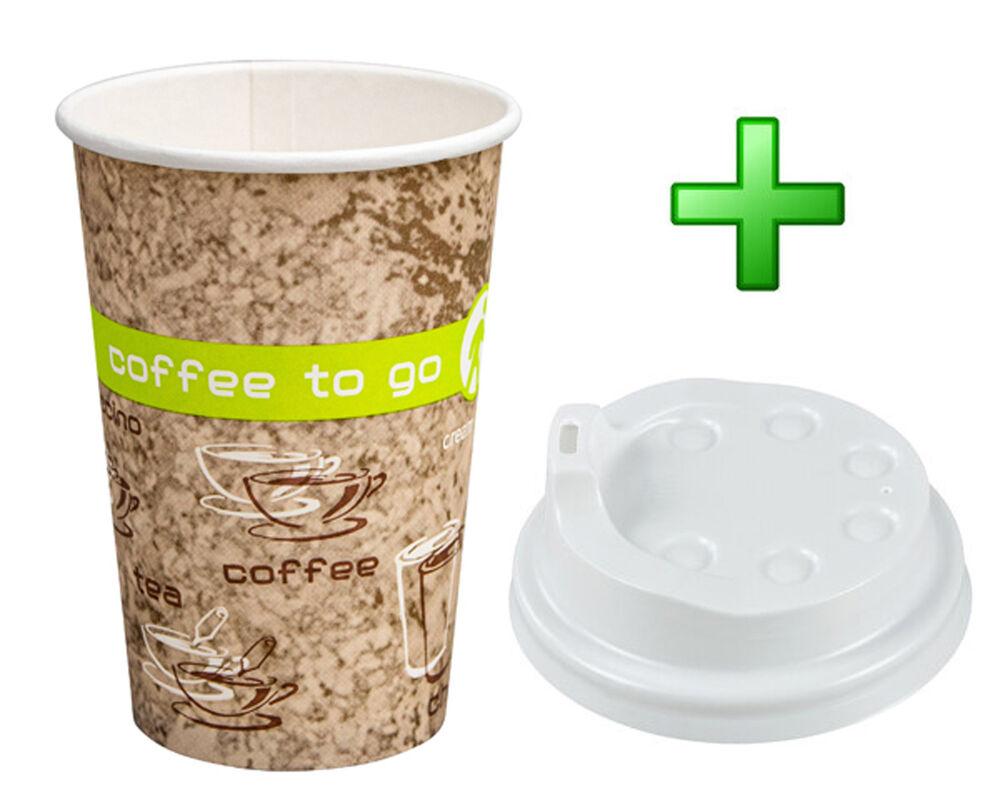 Kaffeebecher Coffee ToGo COFFEE DREAMS mit Deckel weiß 10oz. 250 ml, 50 Stk.