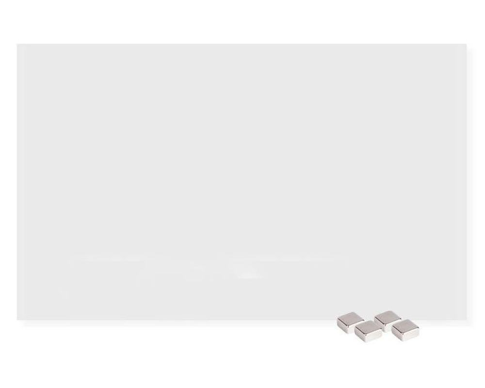 glasboard magnettafel memoboard magnetisch kratzfest 78 x 48 cm wei. Black Bedroom Furniture Sets. Home Design Ideas