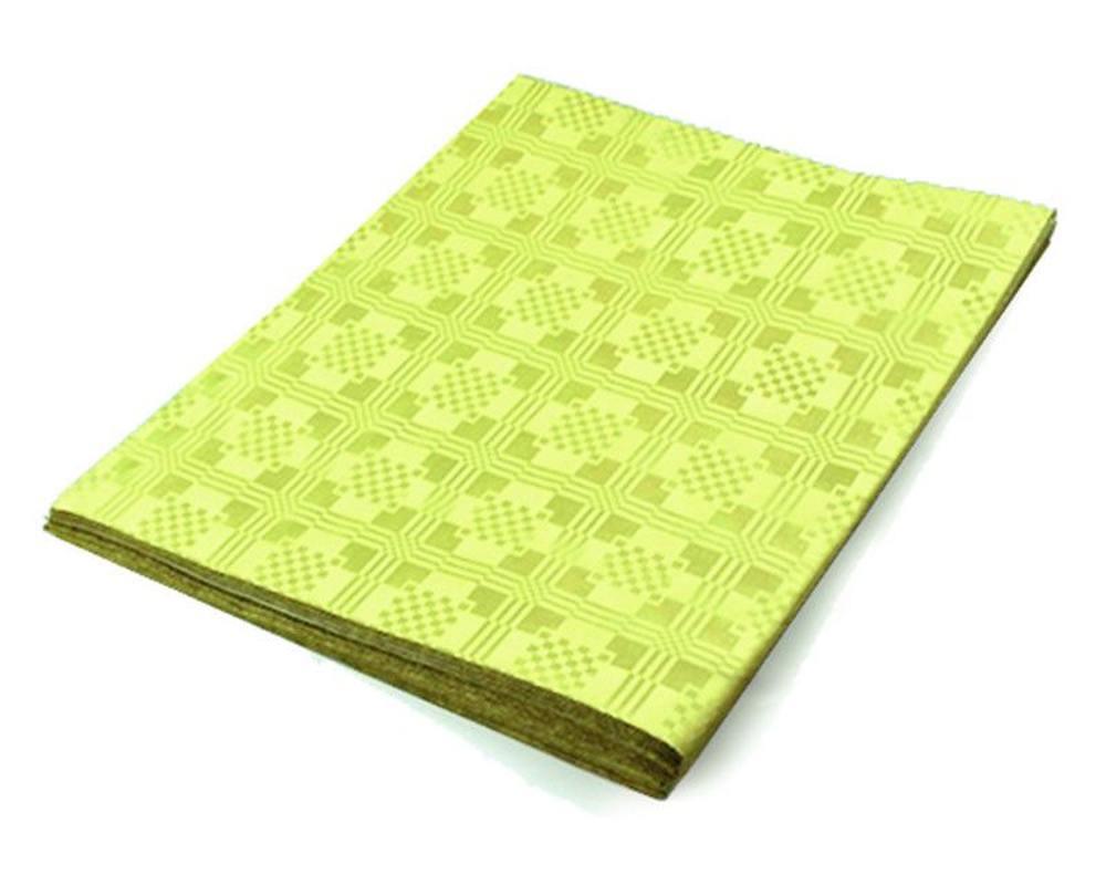 damasttischdecke tischtuch aus papier gefaltet 180 x 120 cm gelb. Black Bedroom Furniture Sets. Home Design Ideas