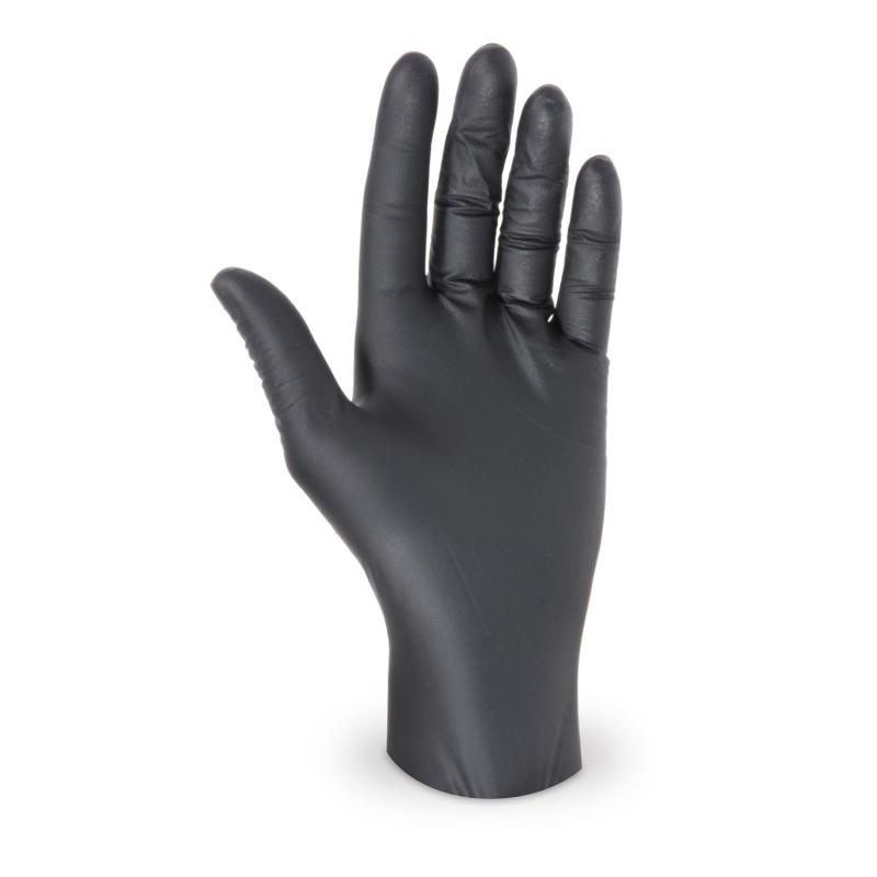 Nitril Einweghandschuhe puderfrei, extrem reißfest, schwarz Gr. M, 100 Stk