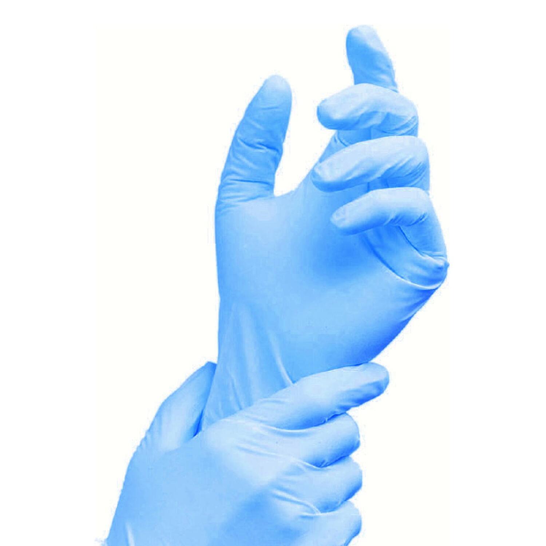 Vinyl Einweghandschuhe Vinylhandschuhe blau puderfrei  Größe L, 100 Stk.