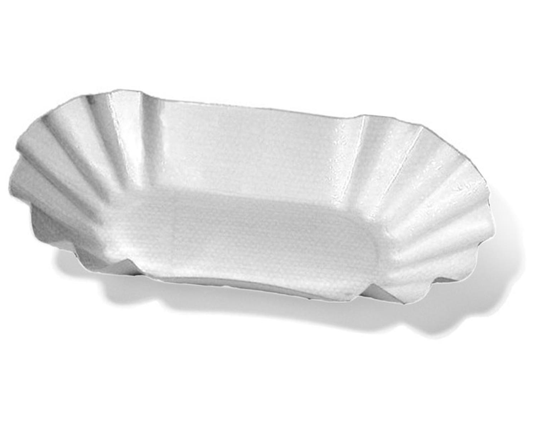 Pappschalen oval 10,5 x 17,5 x 3 cm, fettdicht, 250 Stk.