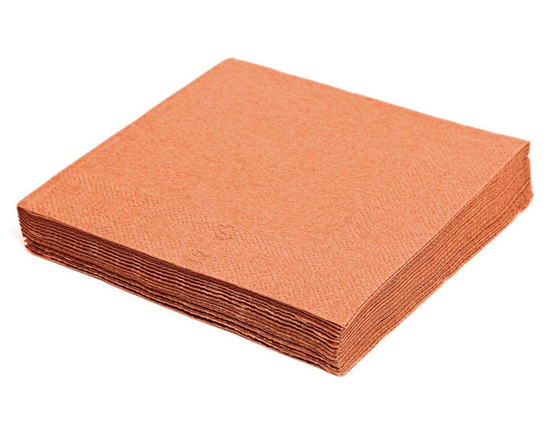 Servietten 24 x 24 cm 1/4 -Falz, 2-lagig apricot, 250 Stk.