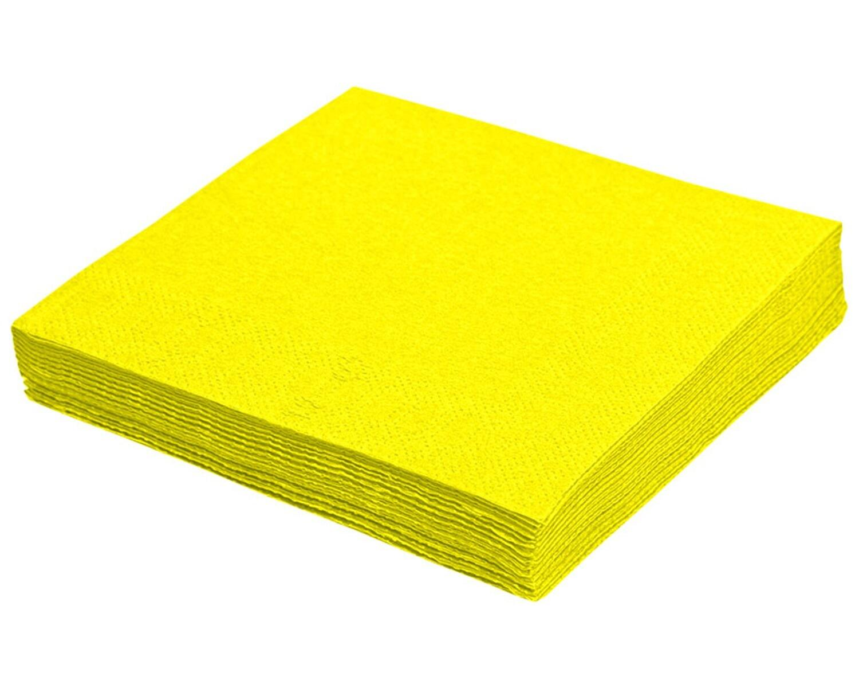Servietten 33 x 33 cm 1/4 -Falz, 3-lagig gelb, 250 Stk.