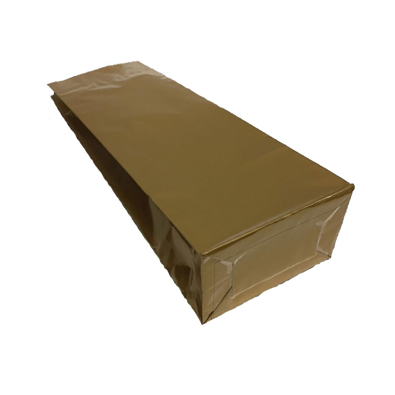 Blockbodenbeutel 3-lagig, Gold, 105 + 65mm x 295mm, 500 Stk.