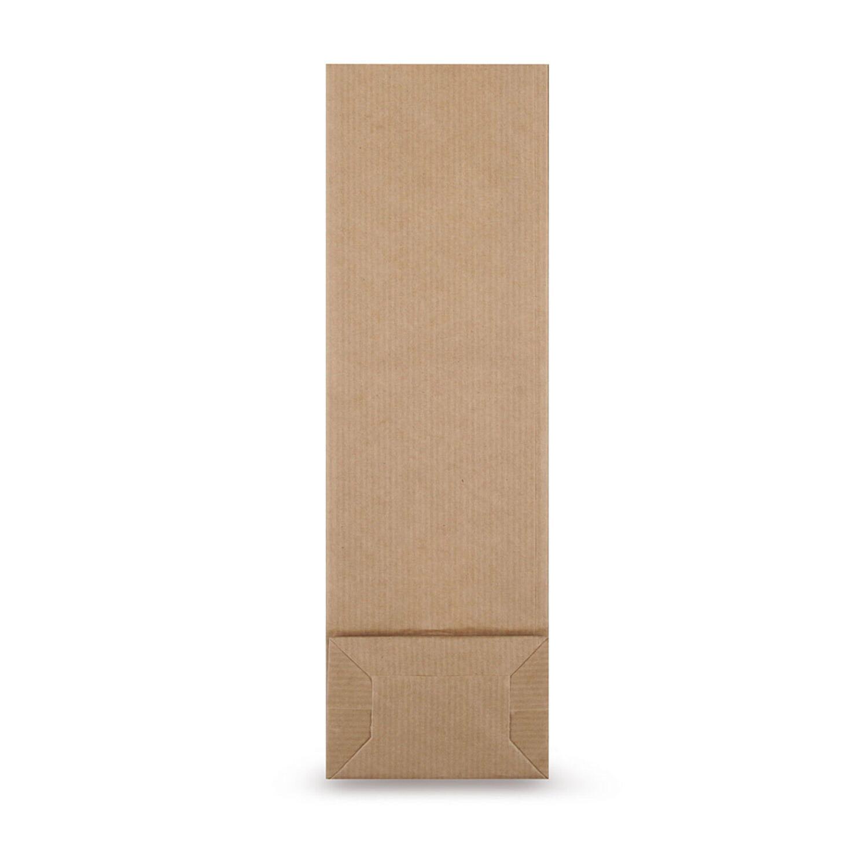 Blockbodenbeutel Kraftpapier braun mit Sichtfenster  70 + 40 x 205mm, 1000 Stk.
