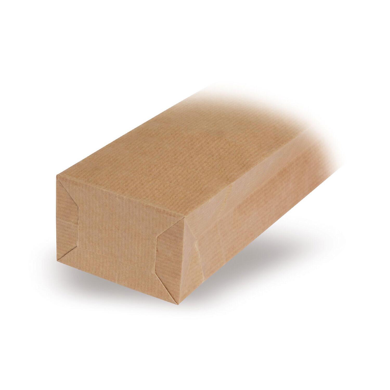 Blockbodenbeutel Natron Kraftpapier braun 70 + 40 x 205mm, 1000 Stk.