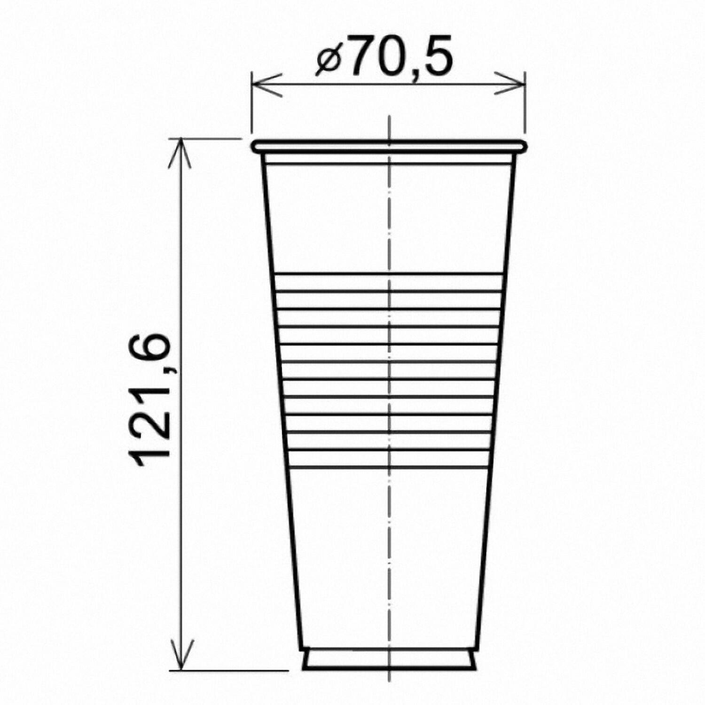 Trinkbecher klar 0,25 l, 250 ml, PP, transparent klar, 100 Stk.