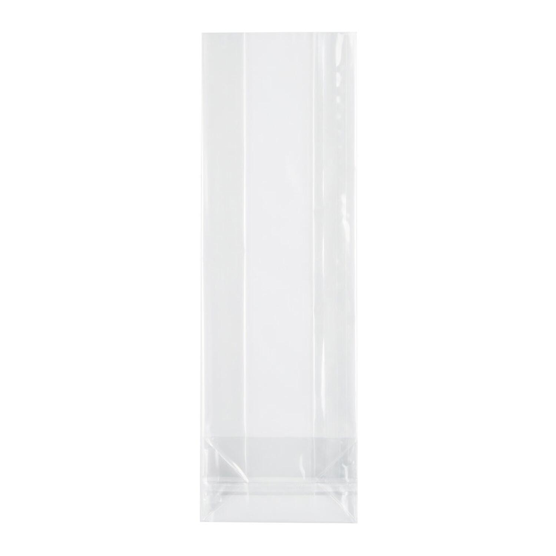 Blockbodenbeutel mit Siegelnaht, transparent  80 + 40mm x 240mm 40my, 1000 Stk.