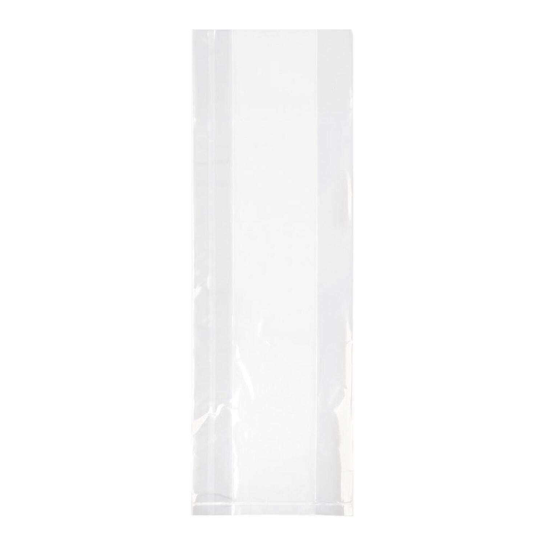 Seitenfaltenbeutel  80+40x240 mm mit Siegelnaht transparent OPP 30my 1000 Stk.