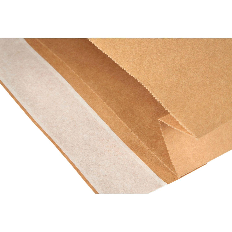 100 Kraftpapier Versandtaschen 300x80x430+50 Musterfaltenbeutel Papier Taschen