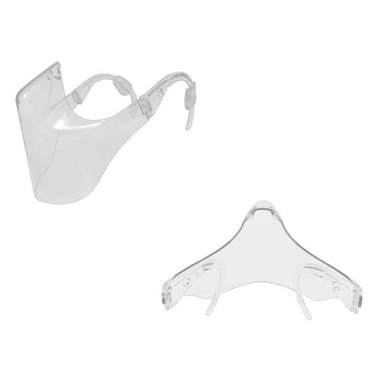 Transparente Mund-Nasen-Bedeckung MNS - mehrfach verwendbar