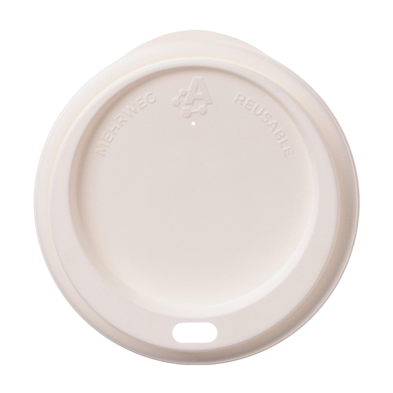 Domdeckel Trinkdeckel für Mehrweg-Kaffeebecher All Reuseable Ø 80mm weiß