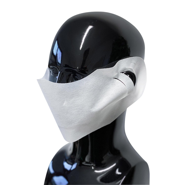 Hygienische Mundmaske Mundschutz und Nasenschutz Vlies weiß 100 Stk.