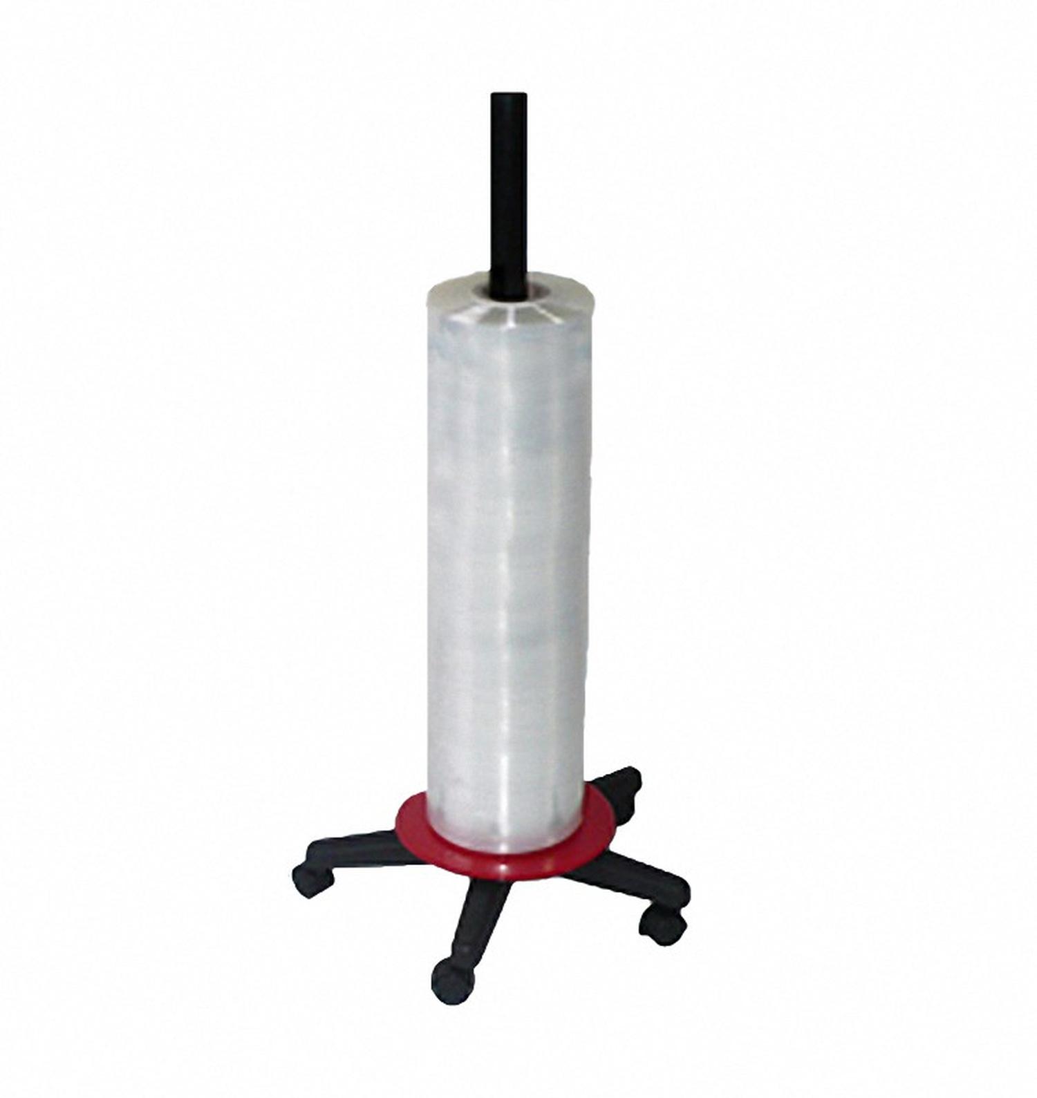 Folienspender senkrecht, für Folienbreite bis 1500 mm, rot/schwarz bis 20kg