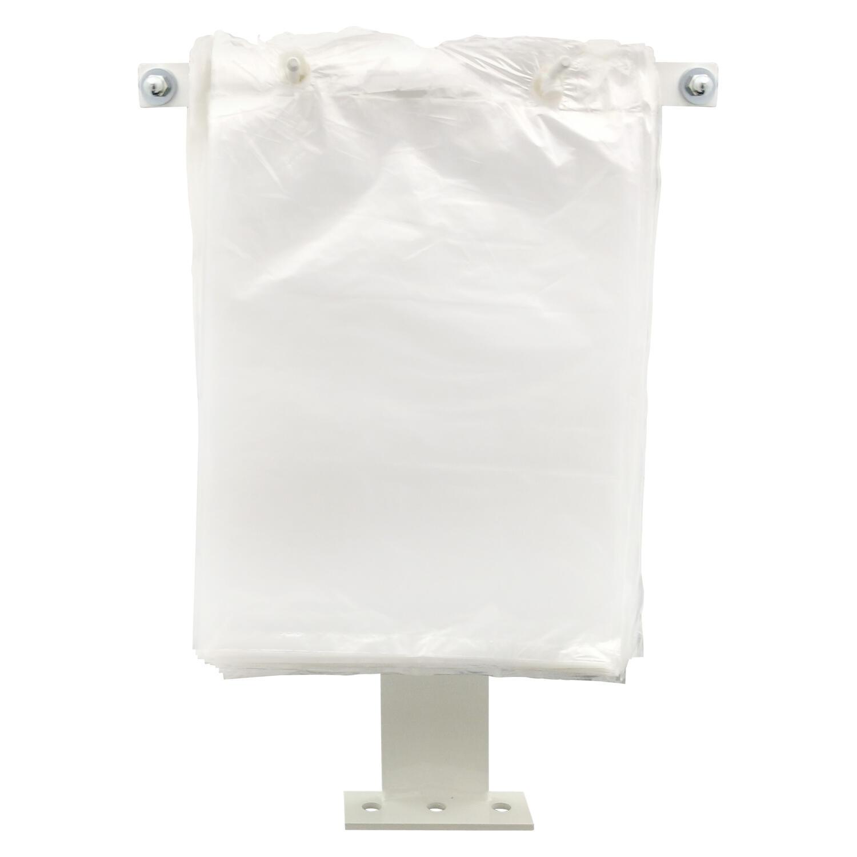 Doppelhaken für geblockte Beutel + Folien, Tischmontage, verstellbar 8 bis 21 cm