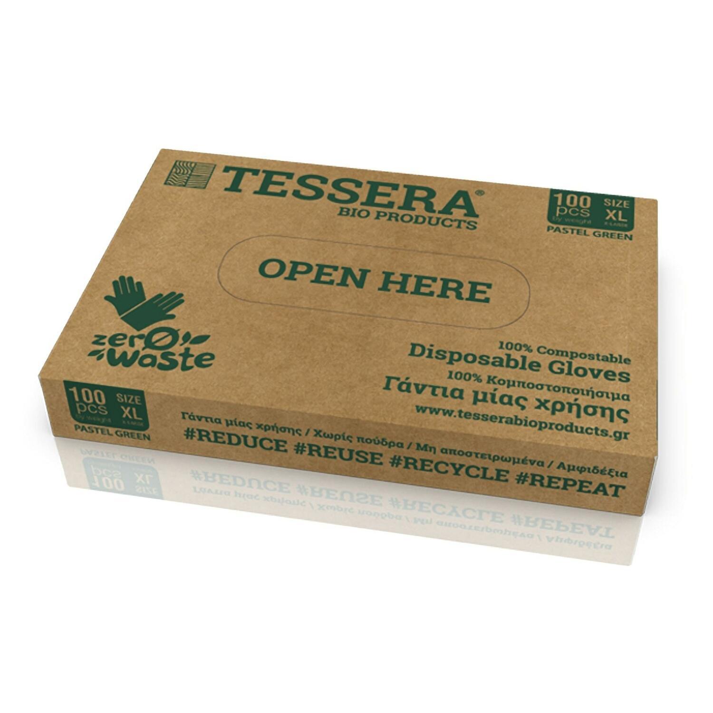 Biologisch Abbaubare und Kompostierbare Handschuhe aus Maisstärke XL, 100 Stk.