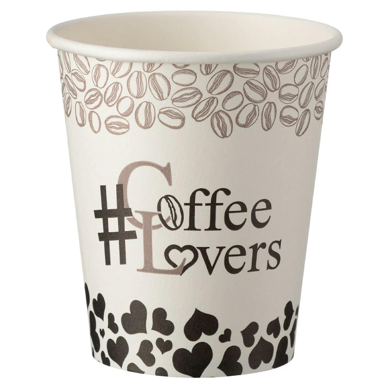 Kaffeebecher CoffeeToGo Pappbecher Design COFFEE LOVERS 200ml, 50 Stk.