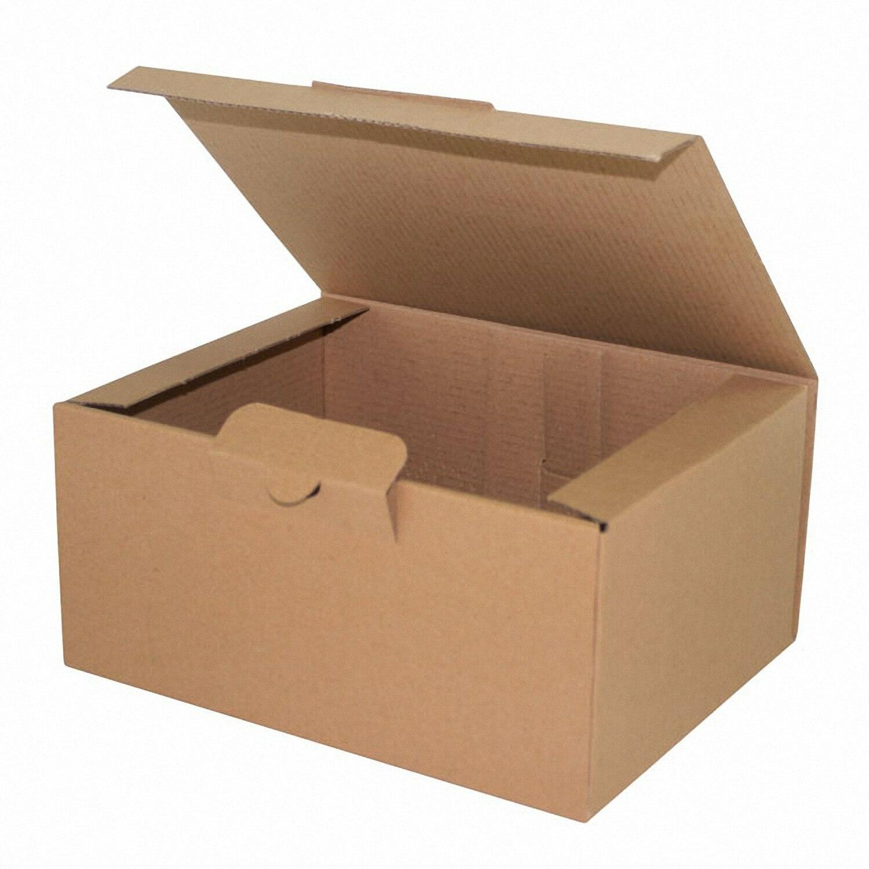 Warenpost International sehr leichter Versandkarton 210x160x100mm braun